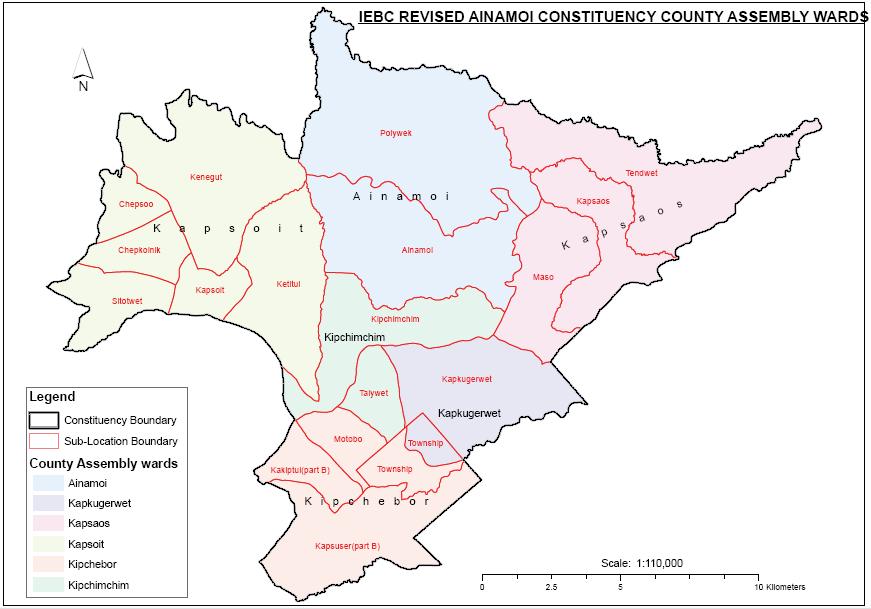 Ainamoi Constituency Map