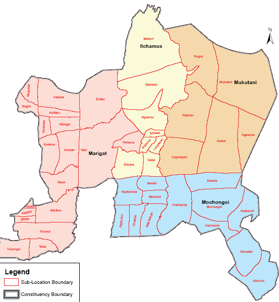 Baringo South Constituency Map