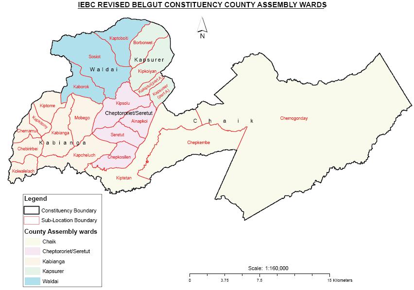 Belgut Constituency Map