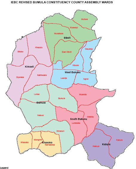 Bumula Constituency Map