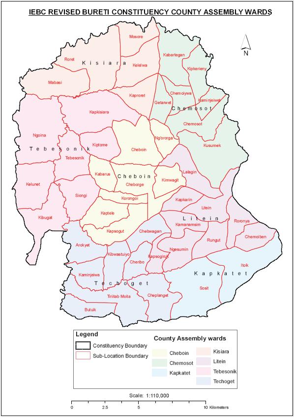 Bureti Constituency Map