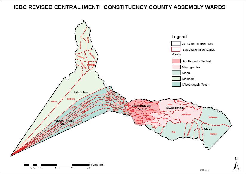 Central Imenti Constituency Map