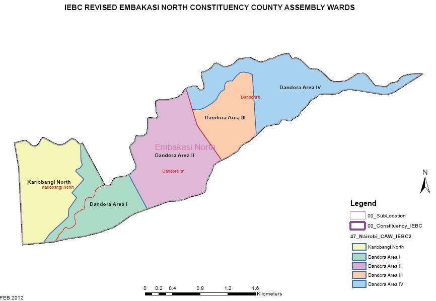 Embakasi North Constituency Map