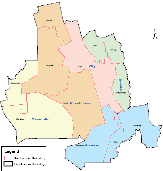 Gilgil Constituency Map