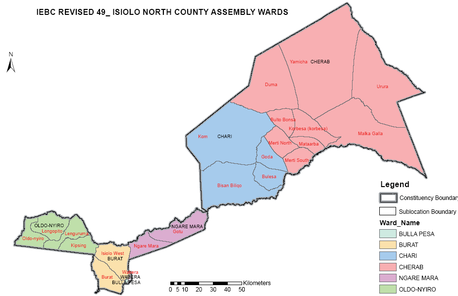 Isiolo North Constituency Map