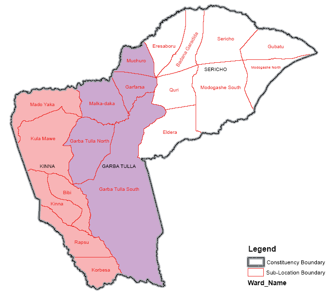 Isiolo South Constituency Map