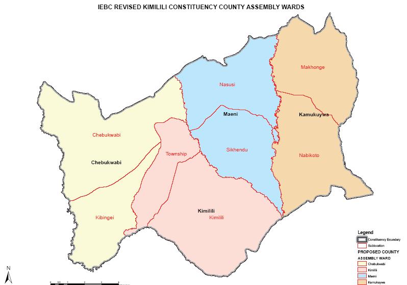 Kimilili Constituency Map
