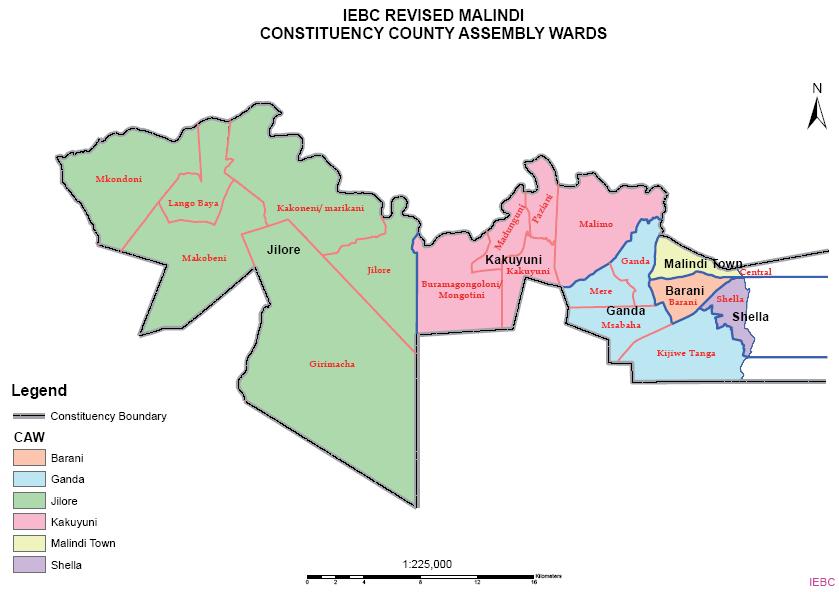 Malindi Constituency Map