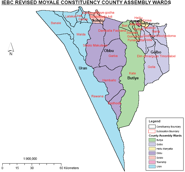 Moyale Constituency Map