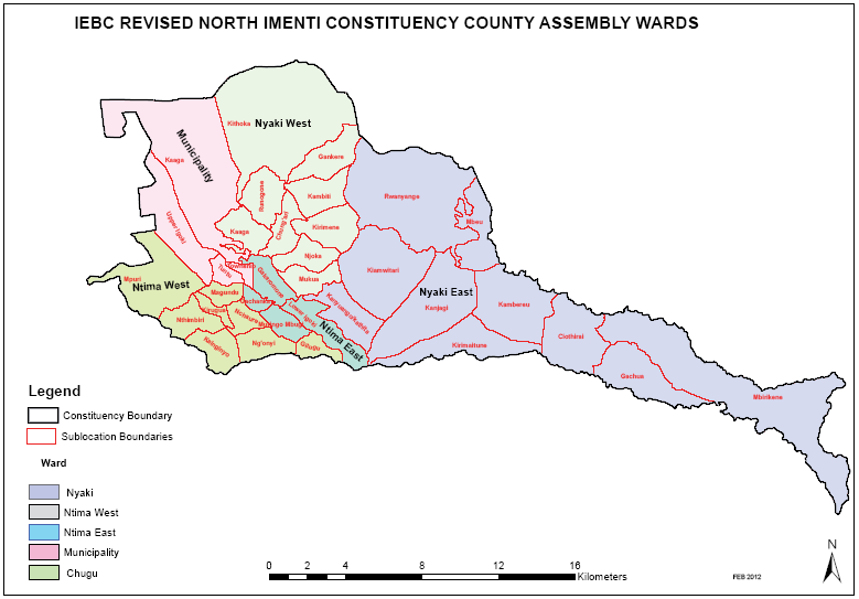 North Imenti Constituency Map