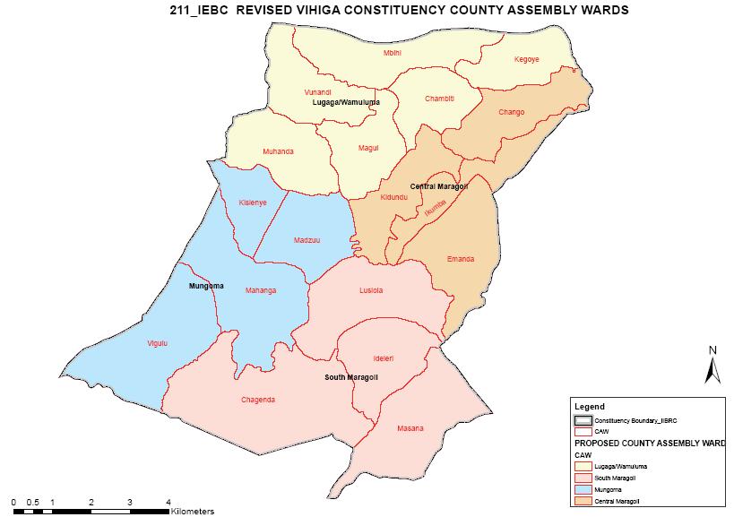 Vihiga Constituency Map