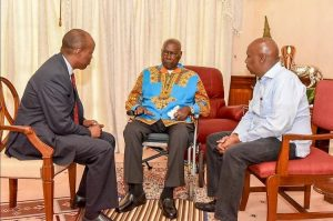 Mzee Moi with his favourite, politically successful sons Gideon and Lee Kinyanjui