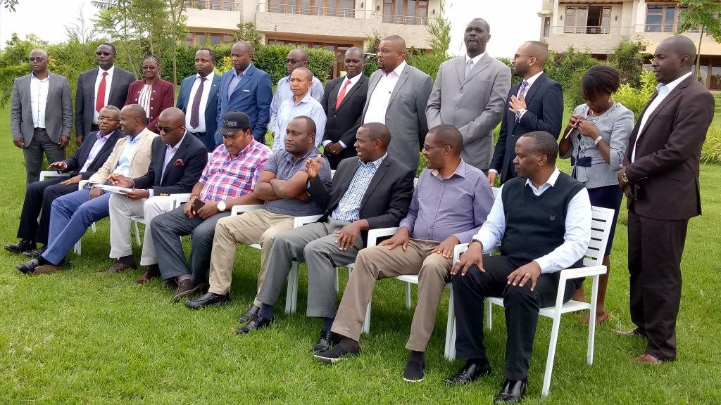 Wahome Gakuru after a consultative meeting with Central Kenya, Nairobi and Isiolo Governors in Nanyuki