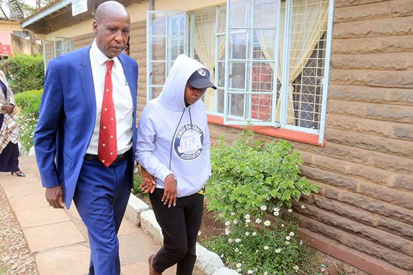 Jackie Maribe leaves Kilimani Police Station on September 27, 2018