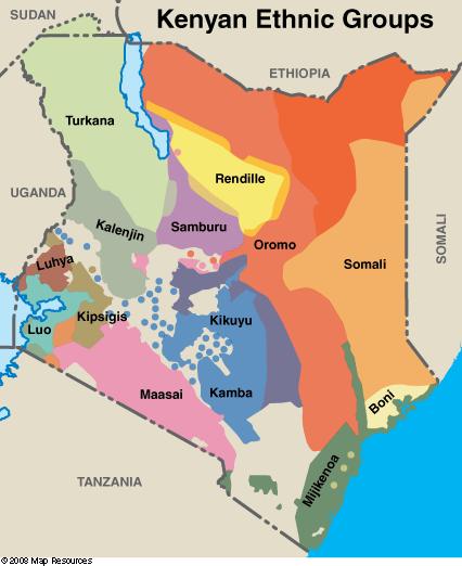 Kenya Ethnic Groups, photo map